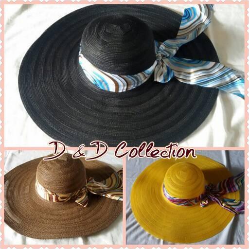 harga Topi wanita   topi pantai   topi wanita dewasa   pita lebar Tokopedia.com