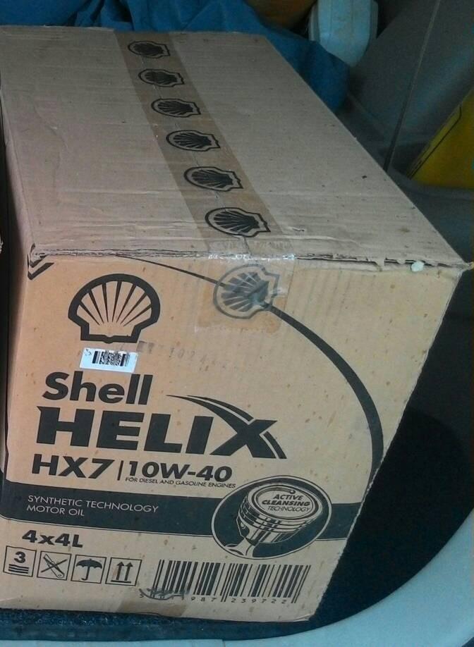 Oli Shell HX7 Galon 4 Liter Paket Dus