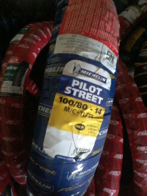 harga Michelin 100/80-14 pilot street impor thailand standar moto gp Tokopedia.com