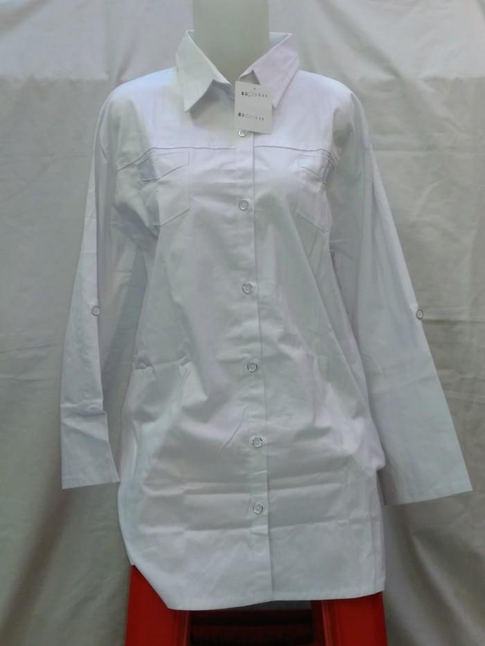Foto Produk Blouse putih bahan streech Tpjg dari BeStar Fashion