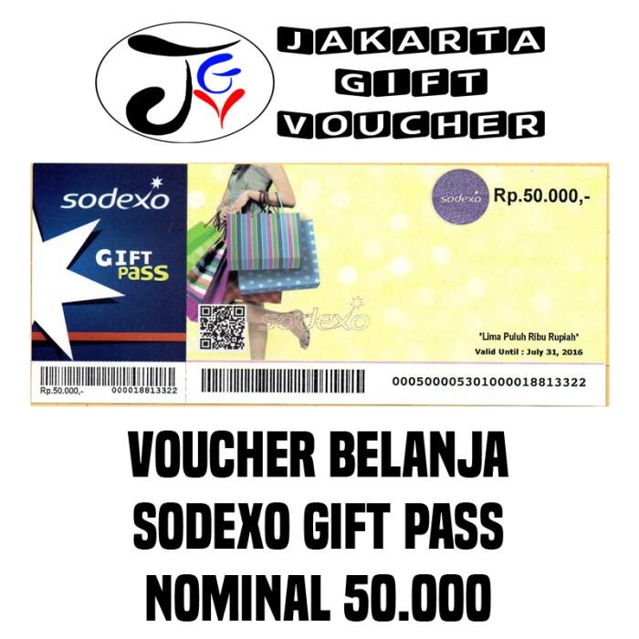 Jual Voucher Sodexo 50rb Max 20 Lembar Jakarta Gift. Voucher sodexo pecahan 50000 dan 100000