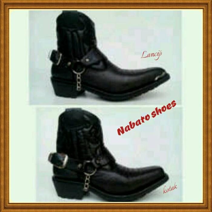 Jual sepatu jenggel touring kulit cek harga di PriceArea.com 889c21cb09