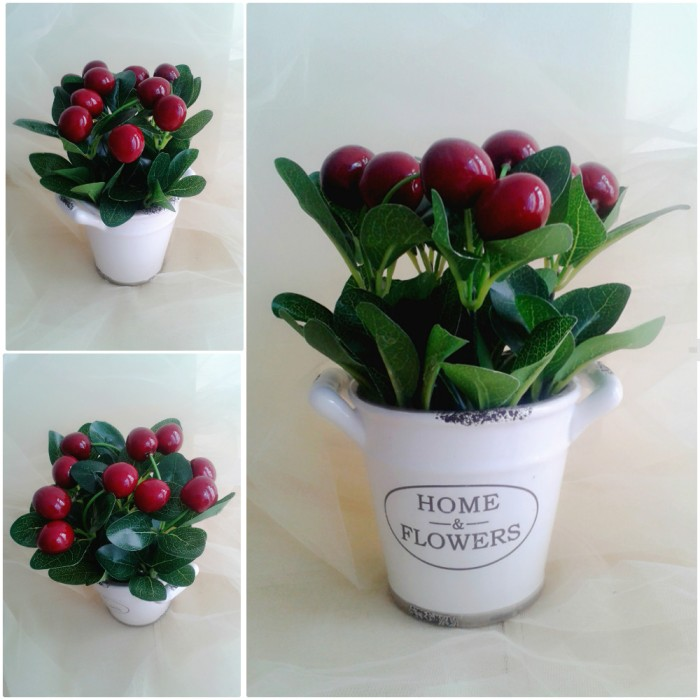 harga Ae03-008 cherry flower / tanaman cherry palsu warna merah Tokopedia.com