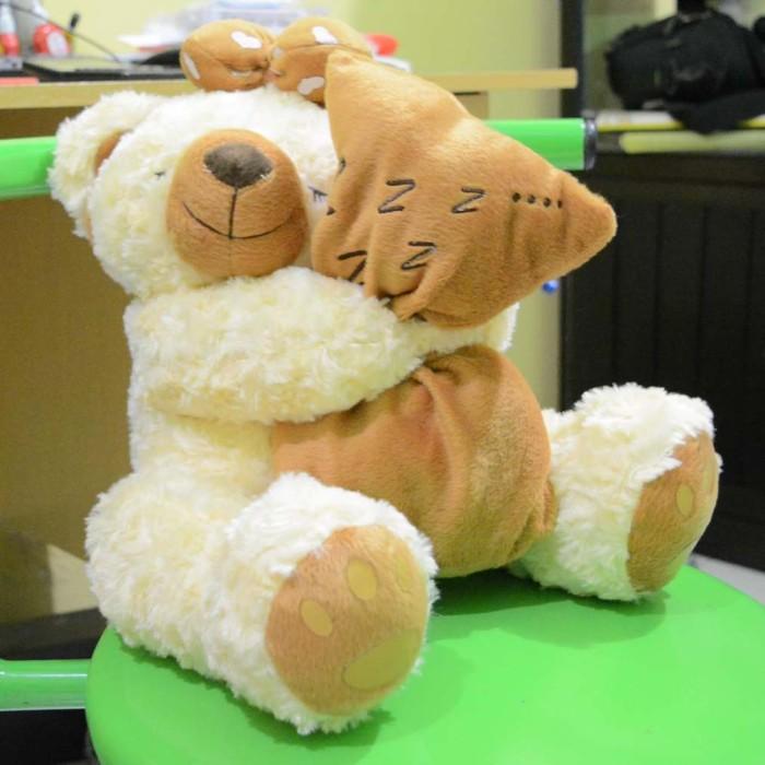Jual Boneka Beruang Teddy Bear Cream Sleep Manis Lucu Imut 45 cm ... 531595b7a1