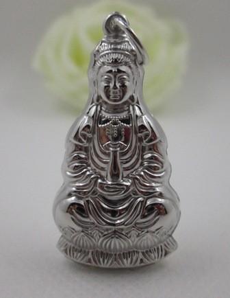 Jual Liontin Pendant Motif Budha Perak 925 Lapis Emas Putih 18k Harga Promo Terbaru