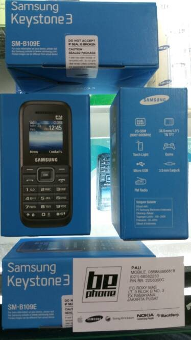 Jual Samsung Keystone 3 B109e Garansi Resmi Cek Harga Di Pricearea Com