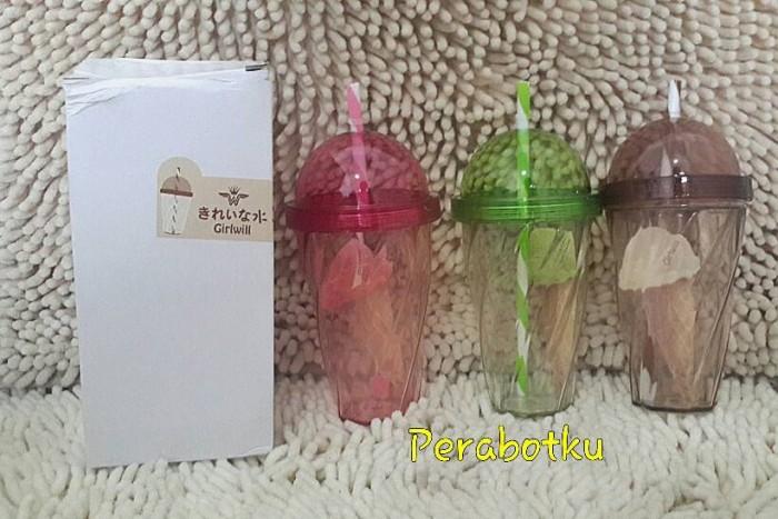 harga Gelas minum cup tumbler ice cream juice coffee + sedotan Tokopedia.com
