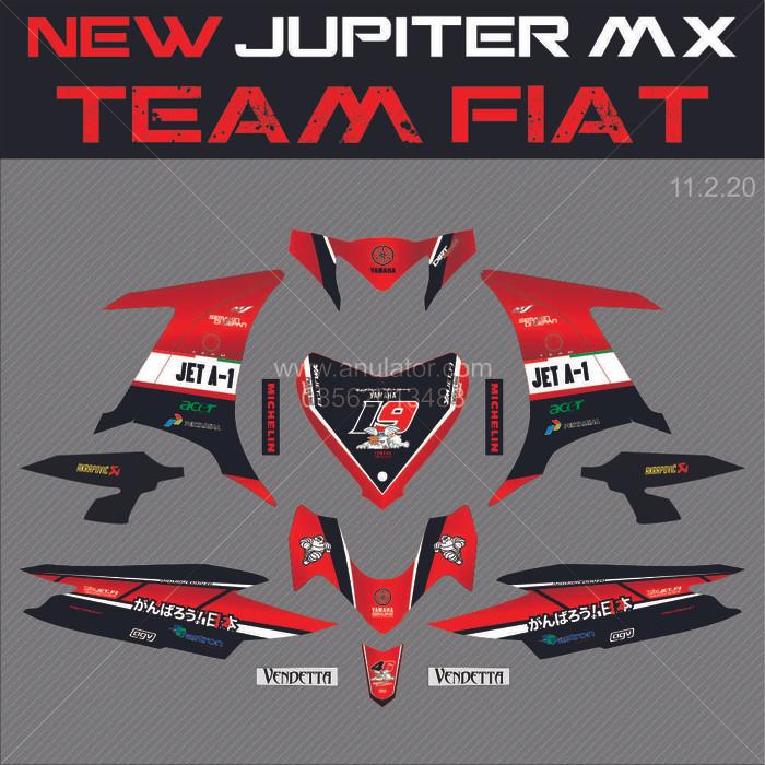 harga Sticker striping motor stiker yamaha new jupiter mx 135 jet-1 - spec b Tokopedia.com