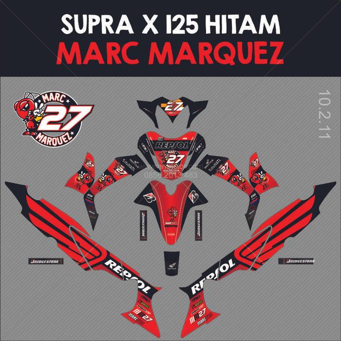 harga Sticker striping motor stiker honda supra x 125 marc marquez 27 - a Tokopedia.com