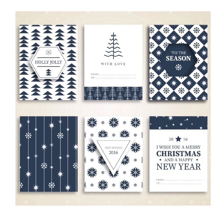Jual Kartu Ucapan Natal Dan Tahun Baru Tema Biru Futlime Tokopedia