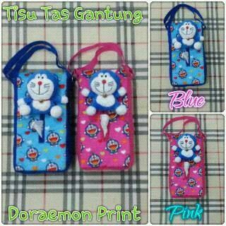 harga Tempat tisu model tas gantung doraemon print blue or pink Tokopedia.com