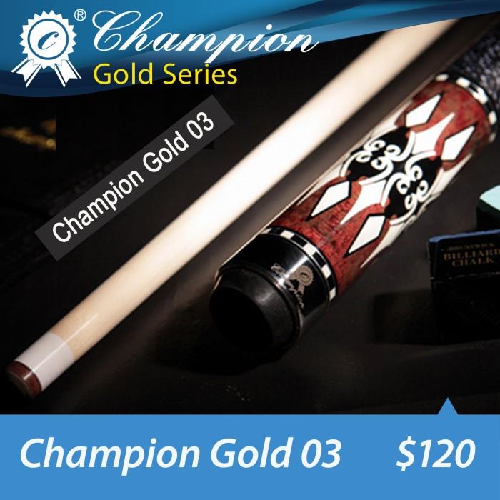 harga Champion gold 03 - maple pool billiard cue stick - stik biliar - 13 mm Tokopedia.com