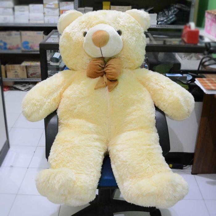 Jual Boneka Beruang Teddy Bear Pita Besar Jumbo Cream 120 cm (SNI ... 9a8d9d3c6a
