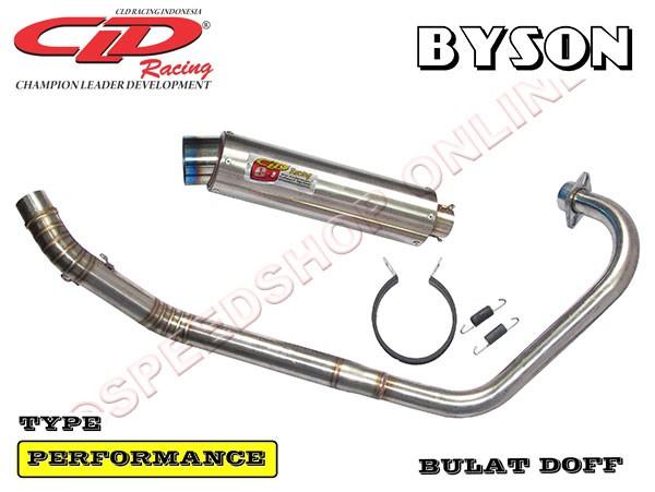 harga Knalpot cld racing byson type performance silencer bulat doff Tokopedia.com