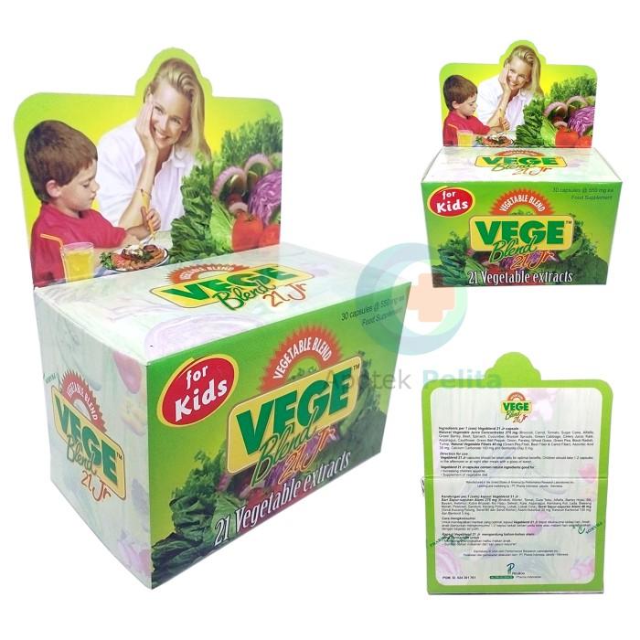 Vegeblend 21 Jr For Kids Isi 30 Kapsul (Ekstrak Sayuran)
