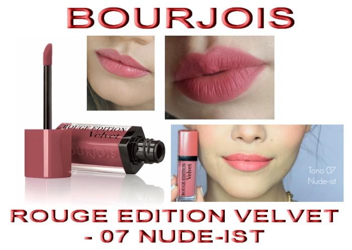 harga Bourjois - rouge velvet edition - matte finish - 07 nude-ist Tokopedia.com