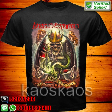harga Kaos avenged sevenfold tour 2015 Tokopedia.com
