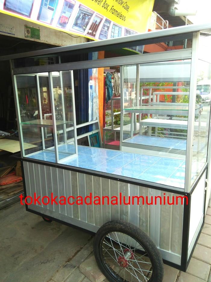 harga Gerobak alumunium kaca roda motor Tokopedia.com