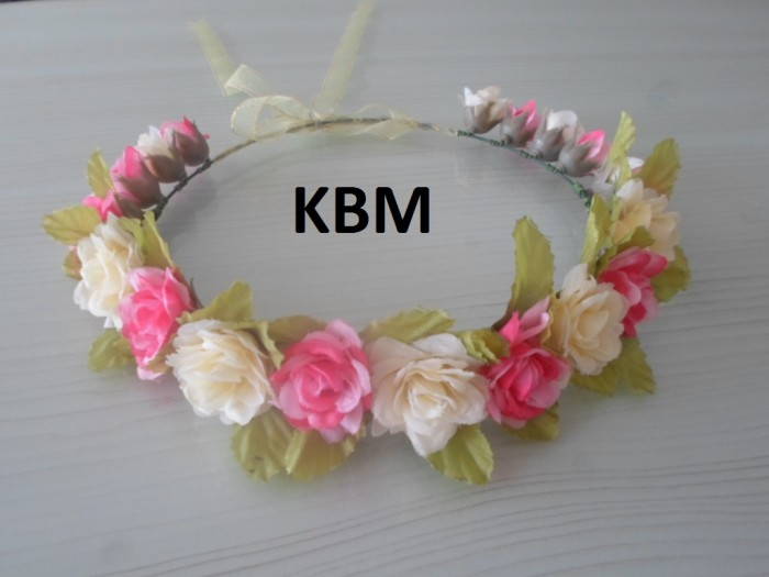 Jual Flower crown   mahkota bunga   headband   bando bunga