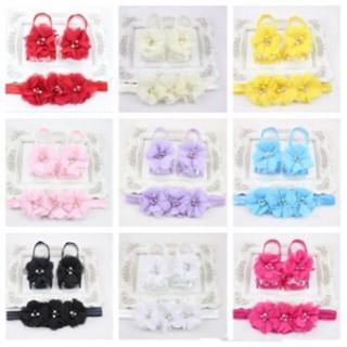 harga Set foot flower footflower headband bandana bando sepatu bayi Tokopedia.com