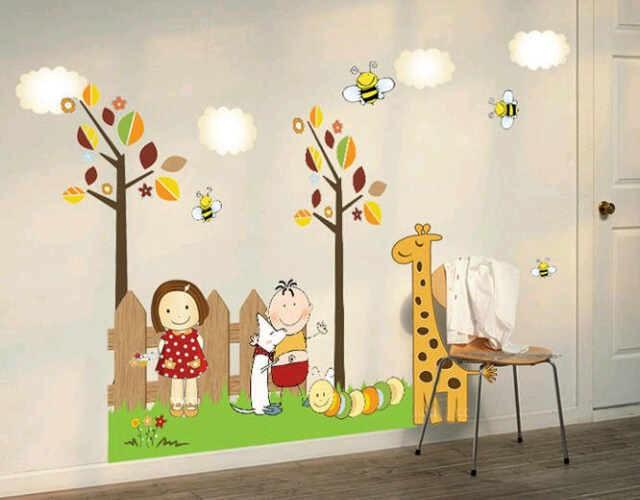 jual jerapah lebah ay915 - wall sticker/ stiker dinding 60x90cm - ag