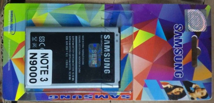 harga Galaxy note 3 n9000 batre/baterai samsung original 99% ori Tokopedia.com