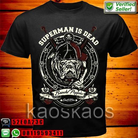 harga Kaos superman is dead brandal poppies outsider Tokopedia.com