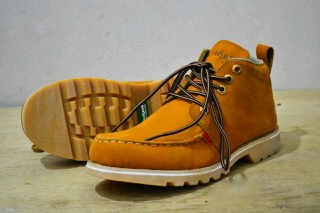 Sepatu boot pria kickers bubu tan