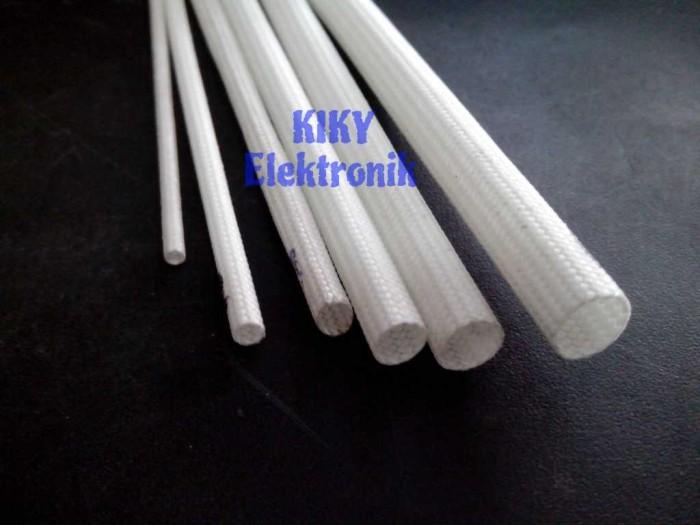 Foto Produk selongsong kabel anti panas 3mm meteran ( selang asbes 3 mm ) dari KIKY elektronik