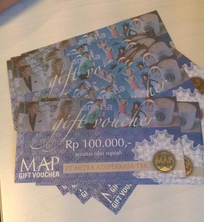 Jual Voucher Mitra AdiPerkasa (MAP) Gift Voucher 100rb 100.000 100000