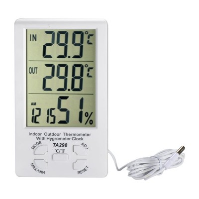Pengukur Suhu Ruangan Termometer Hygrometer LCD DIGITAL TA-298