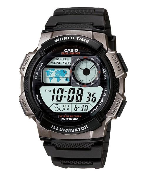 harga Jam tangan casio ae-1000w-1bvdf - hitam/silver Tokopedia.com
