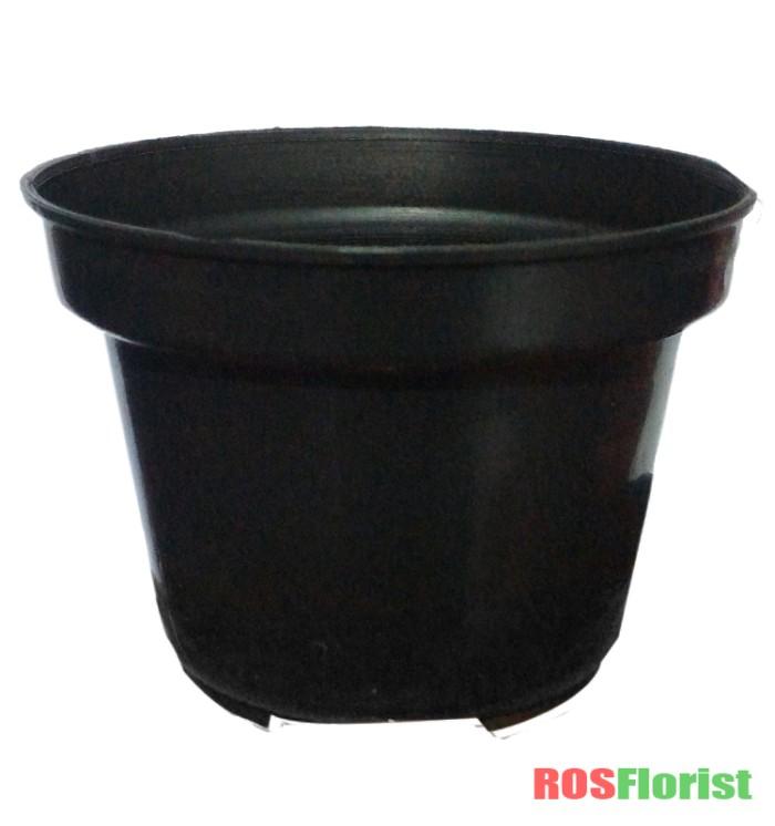 Jirifarm [2PCS] Pot Tawon Putih Diameter 10 cm. Source · Pot plastik hitam