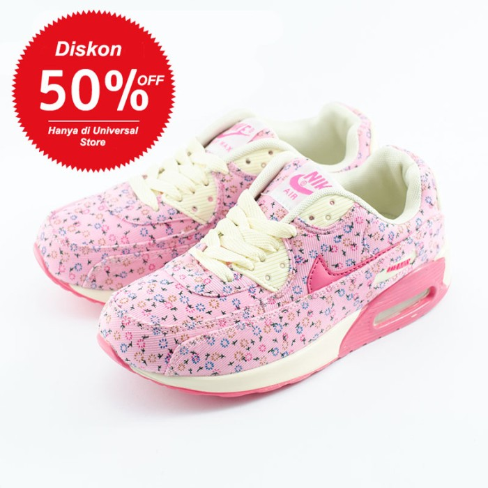 Jual Nike Air Max 90 Flower Pink - Universal Sports  580499bd06
