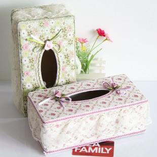 Tempat Tissue Plastik Dengan Kain Renda Cantik Plastic Lace Tissue Box