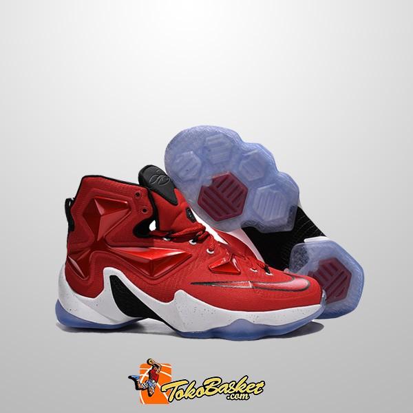 a37fcd44378a6 ... Sepatu Basket Nike Lebron 13 White Red Replika ...