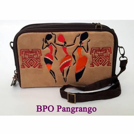 Dompet Tas Selempang Wanita Multifungsi Bordir Molucca BPO Pangrango
