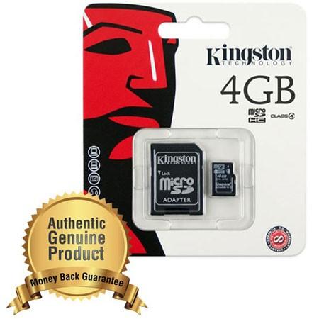 harga Memory card microsd kingston microsdhc class 4 (4mb/s) 4gb Tokopedia.com