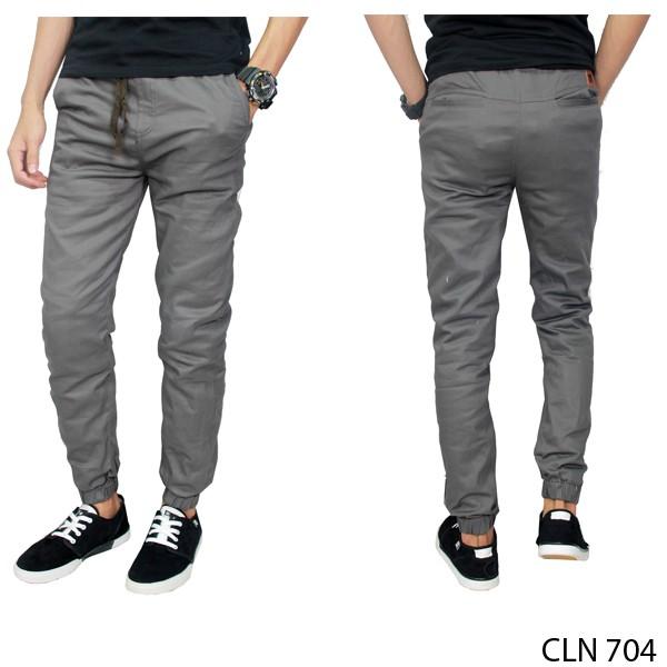 Jual Celana Jogger Pria Stretch Abu CLN 704 - Gudang Fashion - OS | Tokopedia