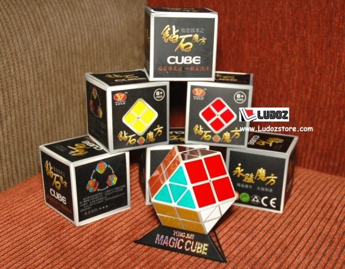 Rubik Rainbow - YJ 1002 White base ; ORI-Yong Jun Cube rubik's