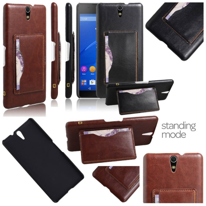 harga Jual leather covered hard cover casing case kulit sony xperia c5 ultra Tokopedia.com