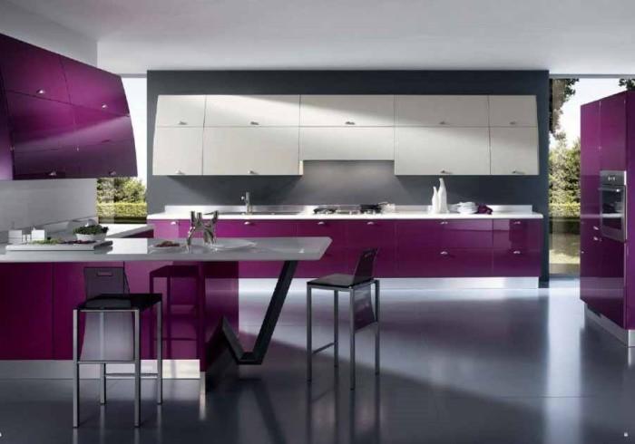 Jual Kitchen Set Minimalis Ungu Dans Furniture Tokopedia