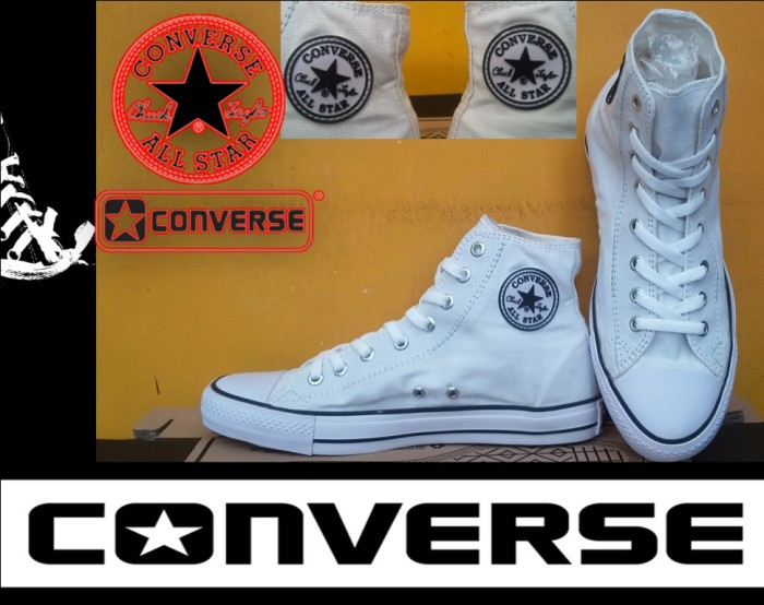 Jual SEPATU CONVERSE ALL STAR HIGH PUTIH + BOX GRADE ORIGINAL ... ea3353dc11