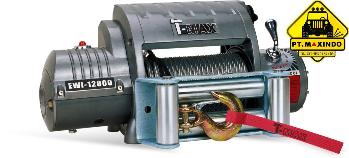 harga T-max electric winch ewi-12000 kapasitas 54 ton inc wireless remote Tokopedia.com