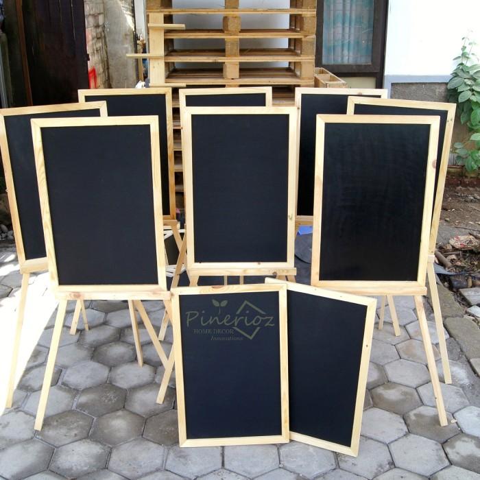 harga Papan tulis kapur 40*60 + tripod 120 cm / blackboard / chalkboard Tokopedia.com