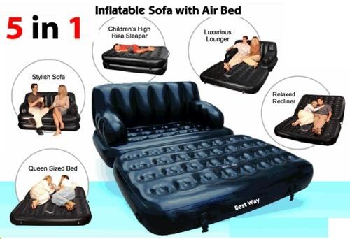 harga Sofa bed 5 in 1 - kursi & tempat tidur santai tiup praktis keren Tokopedia.com