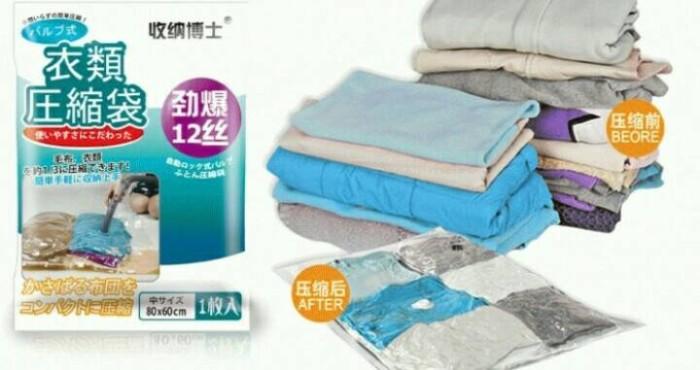harga Compression bag set wadah plastik pakaian vacum vakum vacuum bag Tokopedia.com
