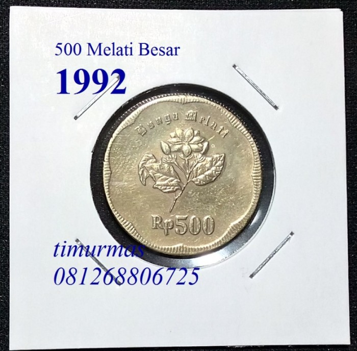 Gambar Uang Koin 500 Rupiah Jual Uang Kuno Lama Koin 500 Rupiah Melati Besar Tahun 92 Kota
