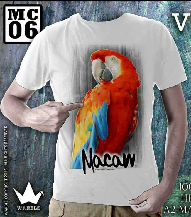 harga Ready kaos burung nuri unisex murah surabaya 023 soft katun dingin Tokopedia.com