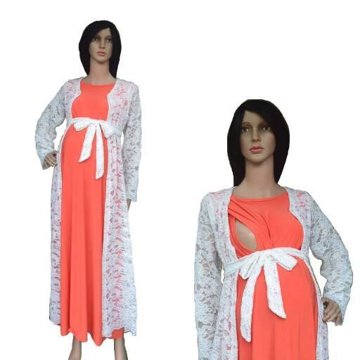 Jual Baju Muslim Gamis Maxi Dress Hamil Menyusui Pesta